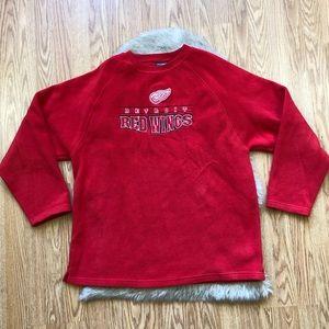 Detroit Red Wings Fleece Pullover Sweater Size XL